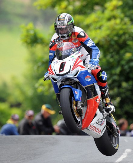 John McGuinness TT 2011 Superbike Acrylic - click to enlarge