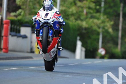 John McGuinness TT 2011 Superbike Agos Leap - click to enlarge