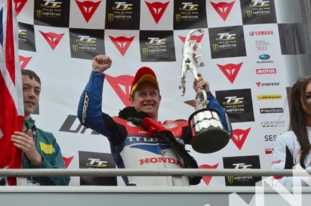 John McGuinness TT 2011 Celebrates Superbike Win