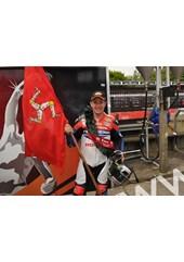 John McGuinness TT 2011 Superbike Manx Flag