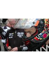 Cameron Donald TT 2011 in Helmet