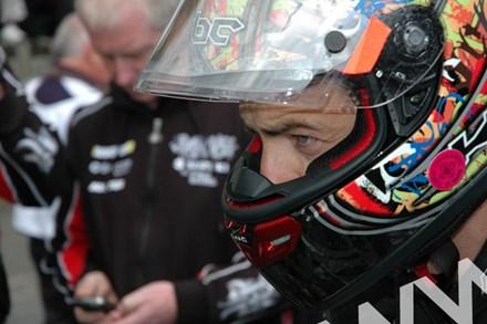Cameron Donald TT 2011 in Helmet - click to enlarge