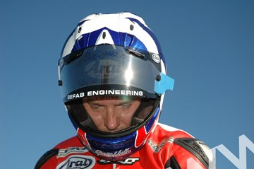 Keith Amor TT 2011 in Helmet - click to enlarge