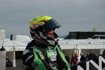 Ian Lougher TT 2011 in Helmet - click to enlarge