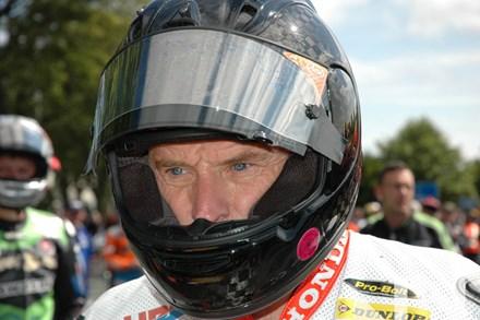 Bruce Anstey TT 2011 in Helmet - click to enlarge