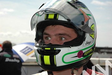 Michael Dunlop TT 2011 in Helmet - click to enlarge