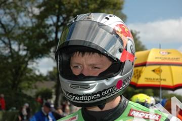 Dan Kneen TT 2011 in Helmet - click to enlarge
