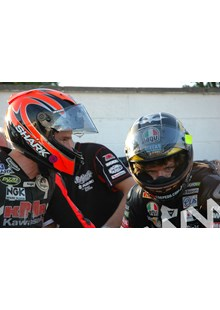 Guy Martin Ryan Farquhar TT 2011 in Helmets