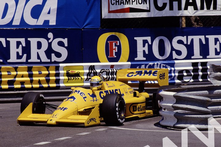 Ayrton Senna (Lotus 99T Honda) Monaco 1987 - click to enlarge