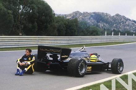 Ayrton Senna (Lotus 97T-Renault) Estoril 1985