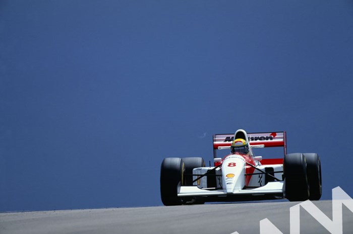 Ayrton Senna (McLaren MP4/8 Ford) Silverstone 1993 - click to enlarge