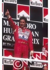 Ayrton Senna (McLaren Honda ) Podium Hungaroring 1992