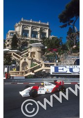 Ayrton Senna 1st position at Loews Hairpin Monaco 1993