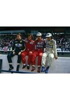 Senna Prost Mansell Piquet 1986