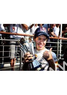 Sebastian Vettel with trophy Monza 2011