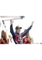 Sebastian Vettel Podium Monza 2011