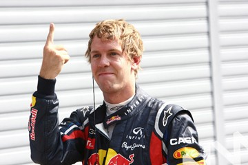 Sebastian Vettel Pole man 2011. - click to enlarge