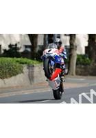 John McGuinness Manx GP 2011 parade lap Honda Supebike