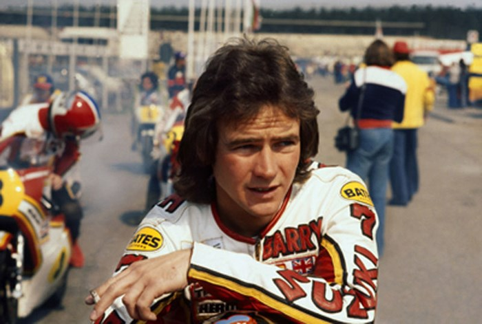 Barry Sheene 1977 British GP  - click to enlarge