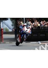 John McGuinness TT 2011 St Ninian's on way to Superbike win.