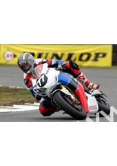 John McGuinness Honda Legends test Darley Moor