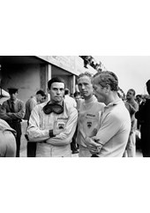 Jim Clark Colin Chapman Mike Spence 1964 Monza