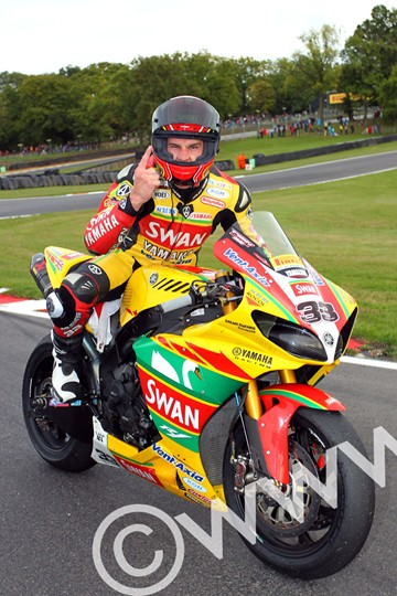 Tommy Hill BSB 2011 celebrates Championship win - click to enlarge