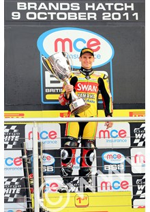 Tommy Hill BSB 2011 with the Championship Trophy