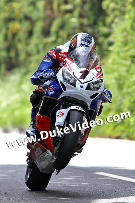 John McGuinness TT 2012 Wheelie - click to enlarge