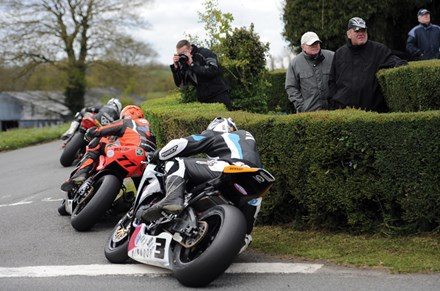 Ryan Farquhar between the Dunlop Brothers Cookstown 100 2012 - click to enlarge