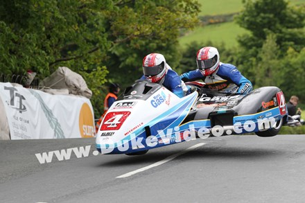 The Birchall Brothers at Ballaugh Bridge TT 2013. - click to enlarge