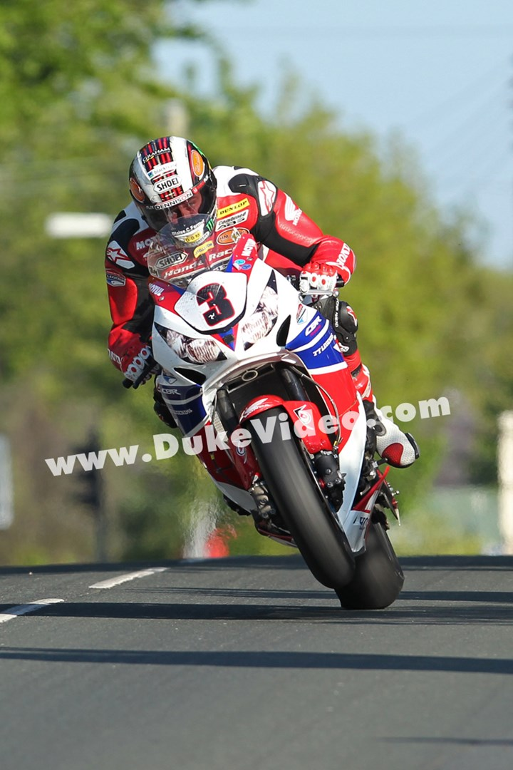 John McGuinness through Ballagarey TT 2013 - click to enlarge