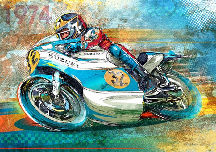 Barry Sheene King in the Making  - click to enlarge