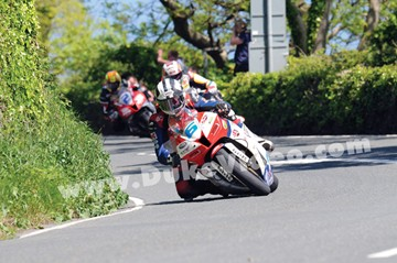 Dunlop leads McGuinness and Donald Tower Bends TT 2013 - click to enlarge