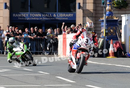McGuinness leads Hillier through Ramsey TT 2013 - click to enlarge