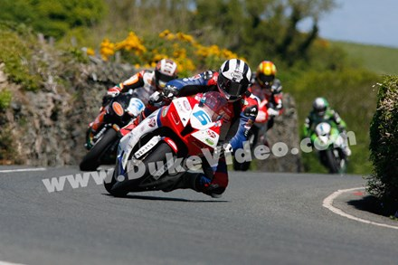 Michael Dunlop leads Supersport TT 2013