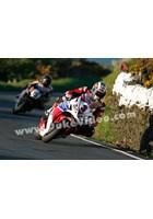 John McGuinness leads Bruce Anstey TT 2013
