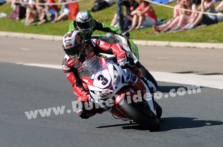 John McGuinness leads James Hillier TT 2013 Senior - click to enlarge