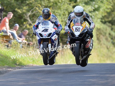 Guy Martin and William Davison Armoy 2013 - click to enlarge