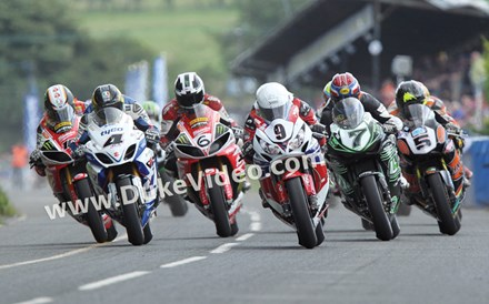 Guy Martin and Michael Dunlop Ulster 2013 Superbike