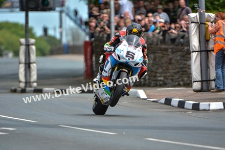 Bruce Anstey, St Ninian's Crossroads TT 2014 - click to enlarge