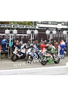 Michael Dunlop, Guy Martin and James Hillier in the pits