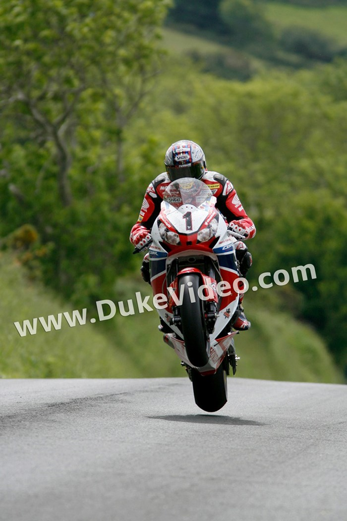 John McGuinness; Wheelie alone - click to enlarge