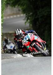 Michael Dunlop followed by Guy Martin at Greeba, TT 2014