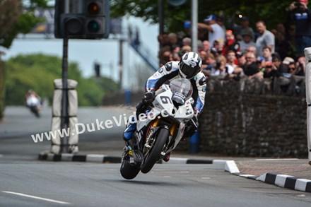 Michael Dunlop at St Ninian's, TT 2014 - click to enlarge