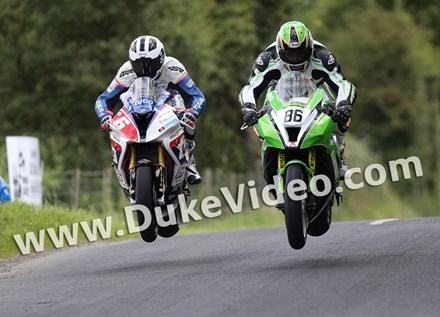 William Dunlop and Derek McGee Armoy Road Races - click to enlarge