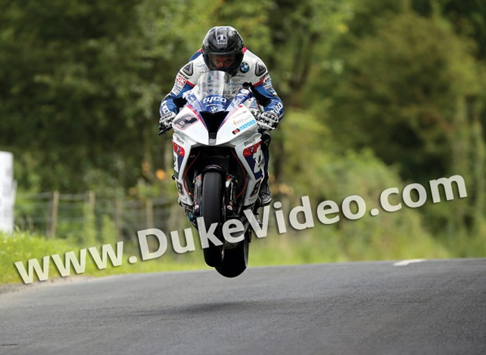 Guy Martin in action at Armoy Road races - click to enlarge