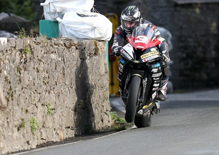 Michael Dunlop at  Joey's Gate, Southern 100 2016 - click to enlarge