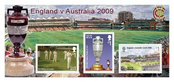 Cricket - The Ashes Stamps Miniature Sheet CTO - click to enlarge