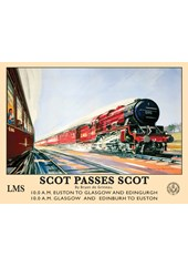 Scot Passes Scot Metal Sign